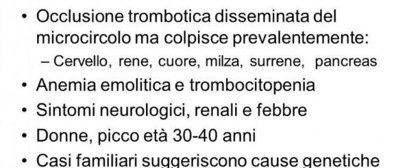 porpora trombotica trombocitopenica